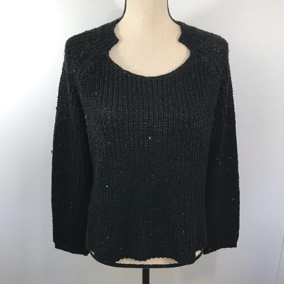 Mustard Seed Black mini sequin Sweater